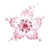 De origami van de bloem die van vliegende vogels wordt gevormd Stock Afbeeldingen