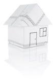 De origami van het huis Stock Afbeeldingen