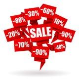 De Origami van het verkoopetiket Stock Afbeelding
