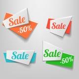 De Origami vectorbanner van de ontwerpvorm Royalty-vrije Stock Afbeeldingen