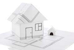 De origamiontwerp van het huis Royalty-vrije Stock Foto