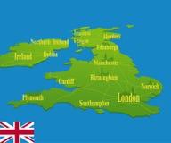 De originele kaart van Engeland Royalty-vrije Stock Afbeelding