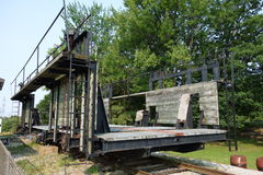 De originele mariene spoorweg in muskoka Stock Fotografie