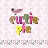 De originele spelling van de uitdrukkings cutie pastei vector illustratie