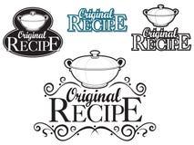 De originele Verbinding van het Recept Royalty-vrije Stock Fotografie