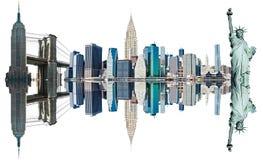 De Oriëntatiepunten van de Stad van New York, de V.S. Royalty-vrije Stock Foto