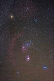 De Orion-constellatie royalty-vrije stock afbeeldingen