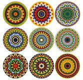 De ornamenten en de cirkels van patronen royalty-vrije illustratie