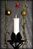 De ornamenten van de kaars en van Kerstmis Stock Afbeelding