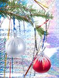 De ornamenten van de kerstboom stock fotografie