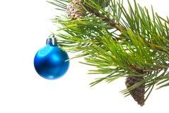 De ornamenten van de kerstboom. stock foto