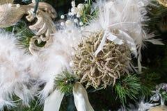 De ornamenten van de kerstboom Stock Foto's
