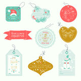 De ornamenten van de Kerstmissnuisterij stock illustratie