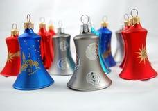 De Ornamenten van de Klok van Kerstmis Stock Afbeelding