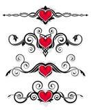 De ornamenten van de valentijnskaart Royalty-vrije Illustratie