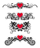 De ornamenten van de valentijnskaart Stock Illustratie