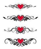 De ornamenten van de valentijnskaart Vector Illustratie