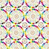 De ornamenten van gekleurde gevormde cirkels Stock Foto's
