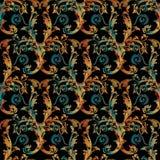 De ornamenten van het borduurwerkdamast Tapijtwerkpatroon stock illustratie