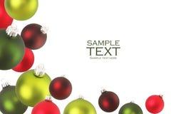 De ornamenten van Kerstmis. Stock Afbeeldingen