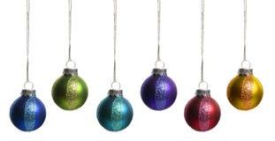 De Ornamenten van Kerstmis die op Wit worden geïsoleerd. Stock Afbeelding