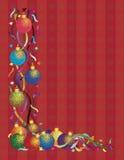De Ornamenten van Kerstmis met het Rood van de Confettien van Linten Royalty-vrije Stock Fotografie