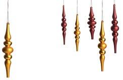 De Ornamenten van Kerstmis met schitteren Geïsoleerdo op Wit Royalty-vrije Stock Afbeeldingen