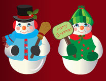 De Ornamenten van Kerstmis van de sneeuwman Royalty-vrije Stock Foto