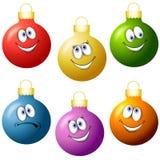 De Ornamenten van Kerstmis van het beeldverhaal royalty-vrije illustratie