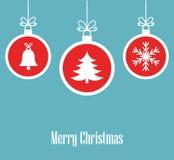 De ornamenten van Kerstmisballen vector illustratie