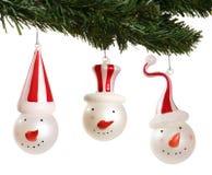 De Ornamenten van sneeuwmannen Royalty-vrije Stock Fotografie