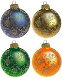 De ornamenten vol.1 van Kerstmis royalty-vrije illustratie