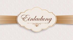 De Ornamentenkopbal van het Einladung Edele Brede Lint royalty-vrije illustratie