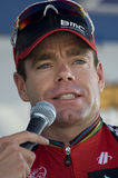 De oro, CO - 28 de agosto: Favorable ciclista australiano Cadel Imagen de archivo libre de regalías