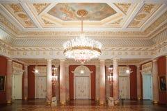 De oro con el sitio rojo del museo histórico del estado Imágenes de archivo libres de regalías