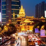 ` De oro de Jing un templo, Shangai China Fotos de archivo