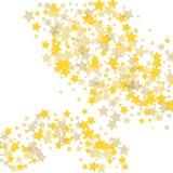 De oro dispers? ca?tico las confeti-estrellas ilustración del vector