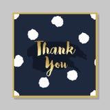 De oro gracias cepillar la tarjeta del mensaje con el fondo punteado ilustración del vector