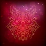 ` De oro s del perro amarillo o cabeza del ` s del lobo Foto de archivo