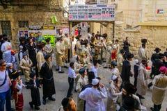 De orthodoxe Joden protesteren, Jeruzalem stock afbeeldingen