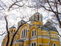 De orthodoxe kathedraal van heilige Volodymyr in Kyiv, de Oekraïne Stock Afbeelding