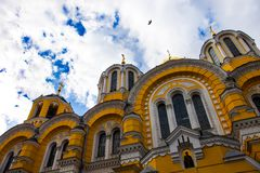 De orthodoxe kathedraal van heilige Volodymyr in Kyiv, de Oekraïne Stock Fotografie