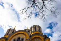 De orthodoxe kathedraal van heilige Volodymyr in Kyiv, de Oekraïne Royalty-vrije Stock Afbeeldingen