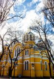 De orthodoxe kathedraal van heilige Volodymyr in Kyiv, de Oekraïne Royalty-vrije Stock Foto's