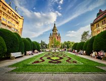 De Orthodoxe Kathedraal van Timisoara, Roemenië royalty-vrije stock foto