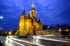 De Orthodoxe Kathedraal van Timisoara, Roemenië stock fotografie