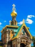 De orthodoxe Kerk in Darmstadt, Duitsland Stock Fotografie