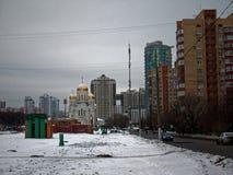 De Orthodoxe Kerk in de winter Royalty-vrije Stock Foto