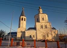 De Orthodoxe Kerk in de winter Royalty-vrije Stock Afbeeldingen