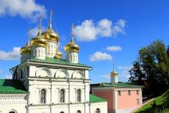 De Orthodoxe Kerk in Nizhny Novgorod Royalty-vrije Stock Afbeeldingen